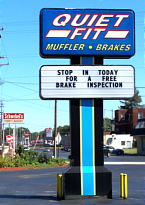 Muffler and Brake Sign Ashtabula